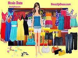 Juega al juego gratis Movie Date Dressup