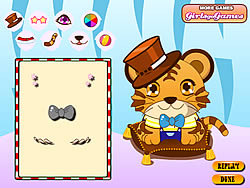 Baby Tiger Dressup game