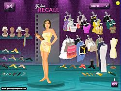 Fashion Recall game