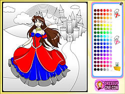 Juega al juego gratis Castle Of Princess Coloring Game