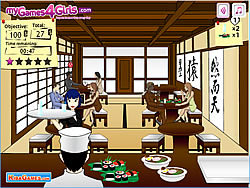 Waitress In A Japanese Restaurant game