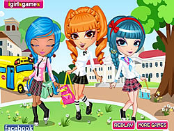 Cutie Trend School Girl Group Dress Up game