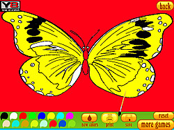 Coloring 5 butterfly game