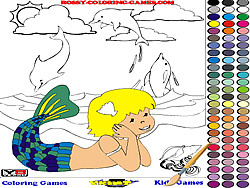 Juega al juego gratis Mermaid Coloring