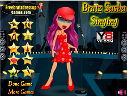 Bratz Sasha Singing Dressup game