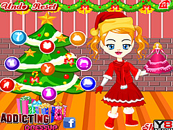 Angela Christmas Dressup game