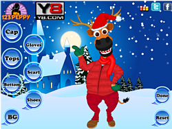 X mas Reindeer Dress Up game