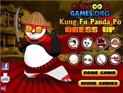 Kung Fu Po Dress Up لعبة