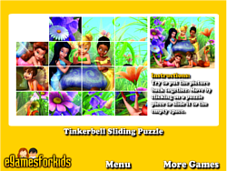 Tinkerbell Sliding Puzzle game