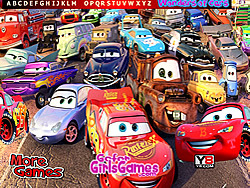Wonder Cars Hidden Alphabet game