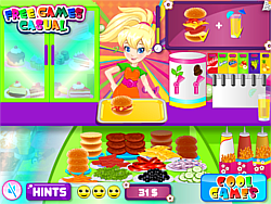 Pollys Burger Cafe game