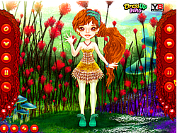 Cute Thumbelina Dress Up game