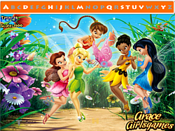 Tinkerbell Hidden Alphabets game