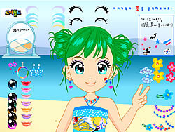 Happy Beach Make up game