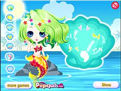 เล่นเกมฟรี Cute little mermaid princess