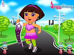 Pretty Dora Roller Skating