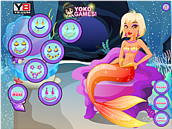 Mermaid makeover game