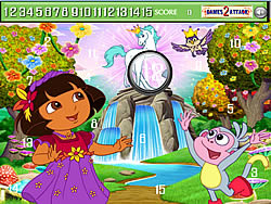 gra Cute Dora Hidden Numbers