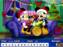 Mickey Christmas Hidden Letters game