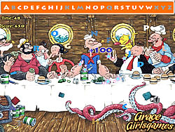 The popeye hidden alphabets لعبة