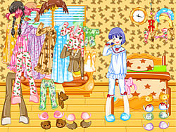 Pajama Dressup game
