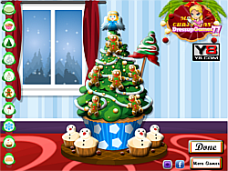 Cupcake Christmas Tree game