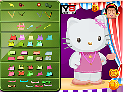 Zoe With Hello Kitty Dressup game
