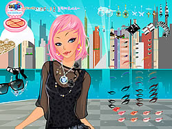 City Lights Dressup game