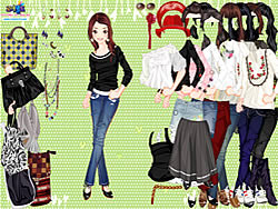 Casually Cropped Style Dressup game