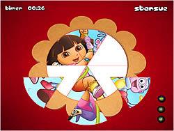 Dora The Explorer - Round Puzzle game