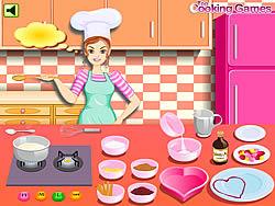 Barbie Cooking - Valentine Blanc Mange game