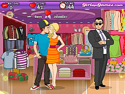 Shopping Mall Kissing game