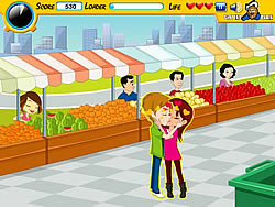 Market Kiss game