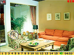 Hidden Numbers Living Room game