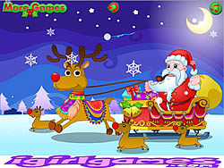 Happy Santa Claus and Reindeer game