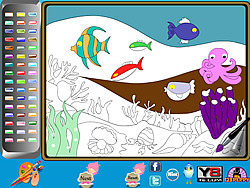 Undersea Life Online Coloring Page game