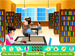 Lazy in the Library game