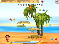 Dora and diego beach treasure: game