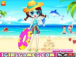 Summer Beach Dress Up game