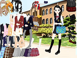 School Uniform Dressup game