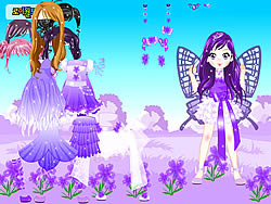 Purple Butterfly Dress up game