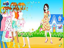Blue House Spring Dressup game