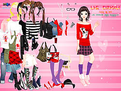 Cartoon Print Dressup 2 game
