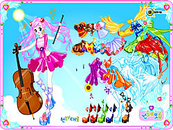 Violin Dressup game