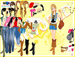 Cowboy Boots Dressup game