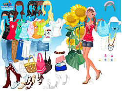 Sunflower Dressup game
