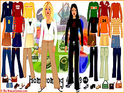 Homecoming Dressup Game game