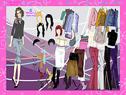 Back to Work Dressup game