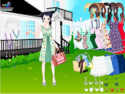 Summer Garden Dress Up game