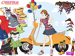 Fantasy Girl Dressup game